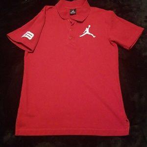 Nike Jordon red polo